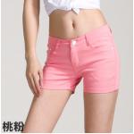 กางเกงยีนส์ขาสั้นสีสันโดนๆ แฟชั่นสีสันสดใส สำหรับสาวๆ ได้ใส่ชิลๆ โชว์ขาเรียวๆ SET3 - ชมพู