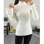 เสื้อยืดแขนยาวแฟชั่น เด่นสะดุดตาด้วยแขนเสื้อดีไซน์เก๋ๆ และสีที่มีให้เลือกกันจุใจ - ขาว