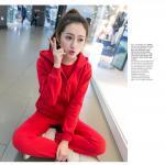 ชุดเซ็ทสุดคุ้ม มากันครบชุด จะใส่รับหลมหนาวหรือออกกำลังกาย ก็ดูดีไม่น้อยคร่าาา - แดง