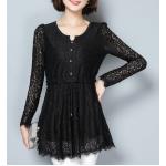 collection เสื้อลูกไม้สีดำ มีให้เลือกหลายแบบ - 8839