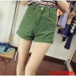 กางเกงยีนส์ขาสั้นแฟชั่น มีให้เลือกหลายแบบ set 3 - 5023 เขียว