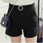 กางเกงขาสั้นแฟชั่นสวยๆ Collection มาใหม่ ต้อนรับ 2017 SET1 - แบบ 1 ดำ
