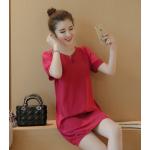 เดรสแฟชั่นเกาหลี ตัวพองๆ ใส่ดูน่ารักๆ มีให้เลือกไซด์ใหญ่จุใจ - แดง