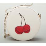 กระเป๋าสะพายสำหรับผู้หญิง ทรงกลมขนาดกำลังดี - ไอวอรี่