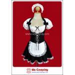 ชุดเมด Erotic French Maid Costume สีดำ Size M