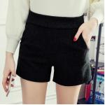 กางเกงขาสั้นแฟชั่นสวยๆ Collection มาใหม่ ต้อนรับ 2017 SET2 - แบบ 4 ดำ