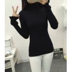 เสื้อยืดแขนยาวแฟชั่น เด่นสะดุดตาด้วยแขนเสื้อดีไซน์เก๋ๆ และสีที่มีให้เลือกกันจุใจ - ดำ