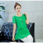 เสื้อชีฟองทรงยาว ผ้านิ่ม เบาสบาย มีสีให้เลือกกันอย่างจุใจ - เขียว