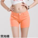 กางเกงยีนส์ขาสั้นสีสันโดนๆ แฟชั่นสีสันสดใส สำหรับสาวๆ ได้ใส่ชิลๆ โชว์ขาเรียวๆ SET4 - ส้มอ่อน