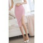 กระโปรงแฟชั่น สีชมพูหวานสวย ปาดเว้าข้างทรงสูง โชว์ความมั่นใจให้สาวๆ ได้อวดขาขาวๆ - L