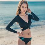 ชุดว่ายน้ำแฟชั่น แบบ 3 ชิ้น สวยอินเทรนด์ เซ็กซี่โดนใจ - XL