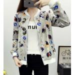 เสื้อกันหนาวแฟชั่น คอกลม ขนาดกำลังดี สกรีนลายสวยๆ น่าใส่มากค่ะ - XL