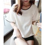 เสื้อยืดแฟชั่นสำหรับสาวๆ ผ้านิ่ม มีลายให้เลือกมากมาย และหลายขนาด - 2228ขาว