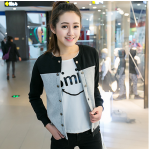 เสื้อแจ็คเก็ตแฟชั่น สีสันทูโทน ขนาดกระชับหุ่น ใส่สบาย - เทาดำ