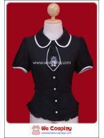 เสื้อ Blouse คิวตี้อลิซ สีดำ (Black Cutey Alice Lolita Blouse)