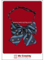 โบว์ติดชุดนักเรียน สีน้ำเงิน Blue School Bow-tie