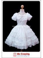 เดรสโลลิต้า ไวท์ปารีส สีขาว White Paris Lolita Dress