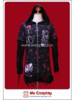 เสื้อแจ๊คเก็ตพังค์ Black Kaldra Sniper Zip-up Punk Jacket
