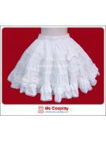 กระโปรงโลลิต้า สีขาวล้วนประดับโบว์ (White Lolita Skirt)