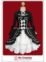 เดรสโกธิคโลลิต้า นีโอโรโคโค่ สีขาวดำ Neo Rococo Gothic Lolita Dress