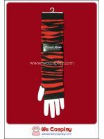 ปลอกแขนพังค์ ลายริ้ว สีดำแดง Black and Red Punk Arm Warmer