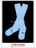 ถุงเท้าโกธิคโลลิต้า ยาวระดับเข่า สีฟ้า