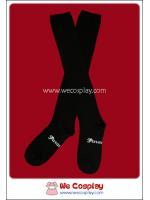 ถุงเท้าโกธิคโลลิต้าพังค์ ยาวเหนือเข่า สีดำ