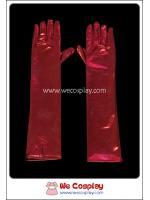 ถุงมือยาว สีแดง Red Long Gloves