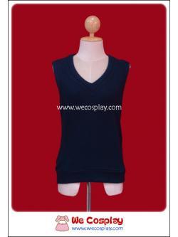 เสื้อสเวตเตอร์นักเรียนญี่ปุ่น แขนกุด สีกรมท่า (Navy Blue Sleeveless Sweater)