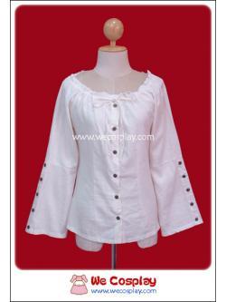 เสื้อสตีมพังค์สีขาวครีม ปรับความกว้างไหล่ได้ (Steam Punk Blouse)