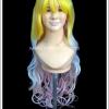 วิกผมโลลิต้า หลากสีพาสเทล แบบหน้าม้า ผมลอนอ่อน Pastel Multicolour Lolita Wig