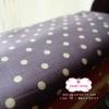 ผ้าคอตตอนลินิน 1/4ม.(50x55ซม.) สีม่วง ลายจุดสีขาว