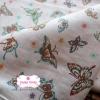 ผ้าคอตตอนเกาหลีแท้ 100% 1/4 เมตร (50x55 cm.) ลายผีเสื้อเกาหลี