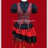 ชุดโกธิคพังค์แอนิต้าริทึ่มสเกิร์ต สีดำแดง Black & Red Anita Rhythm Skirt Separate