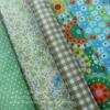 Set 5 ชิ้น: ผ้าคอตตอน100% 5 ลาย โทนสีเขียว