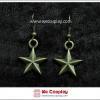 ต่างหูโกธิค รูปดาว สีทองโบราณ Gothic Earrings