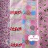Set 4 ชิ้น : ผ้าคอตตอน 100% โทนสีชมพู4 ลาย ชิ้นละ1/8 ม.(50x27.5ซม.)