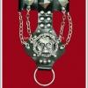 สร้อยข้อมือพร้อมห่วงวงแหวนพังค์ Punk Wristband and Ring ตอกหมุดเงิน ประดับด้วยหัวกะโหลก และสายโซ่