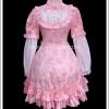 เดรสโลลิต้า มายเซนส์ออฟฟลาวเวอร์ สีชมพู My Sense of Pink Flower Lolita Dress