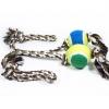 ของเล่นสุนัข เชือกฝ้ายบอลสี