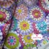 ผ้าคอตตอนไทย 100% 1/4ม. (50x55ซม.) โทนสีม่วง ลายแฟนตาซี