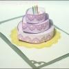 A29 การ์ดป๊อปอัพ Special Cake ชมพู 4