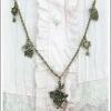 สร้อยคอโกธิคโลลิต้า จี้กระต่ายอลิซ สีทองโบราณ Gothic Lolita Necklace