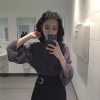 เสื้อแฟชั่นเกาหลี ซีทรูนิดๆ ผ้านิ่มน่าใส่ ให้ความยืดหยุ่นสูง