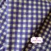ผ้าคอตตอนลินิน 1/4ม.(50x55ซม.) ลายตาราง โทนสีน้ำเงินม่วง