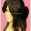 ที่ครอบหูคุโระโลลิต้า รูปหัวใจ สีดำ Kuro Lolita Heart Earmuff