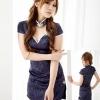 ch016 ชุดแฟนซี ชุดคอสเพลย์ ชุดกี่เพ้าสีน้ำเงิน พร้อมจีสตริงคะ