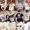 เสื้อยืดแฟชั่นสำหรับสาวๆ ผ้านิ่ม มีลายให้เลือกมากมาย และหลายขนาด SET1