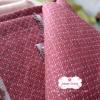 ผ้าทอญี่ปุ่น 1/4ม.(50x55ซม.) สีแดงแต่งเส้นปะ