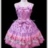 จัมเปอร์สเกิร์ตสวีทโลลิต้า ทรัมป์อลิซ สีชมพู Pink Trump Alice Sweet Lolita Jumper Skirt